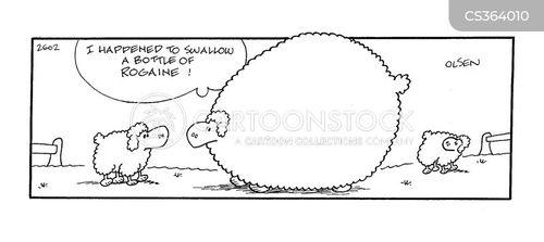 rogaine cartoon