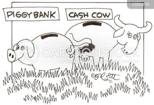 cash cows cartoon