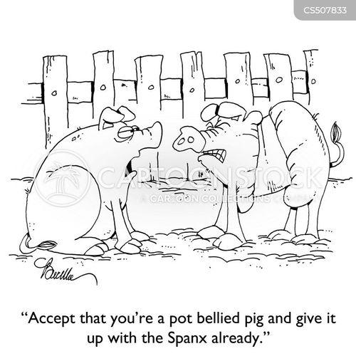 pot belly cartoon