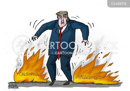 california fires cartoon
