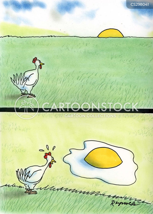 sunny side up cartoon