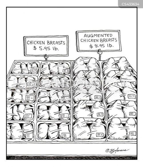 fake breasts cartoon