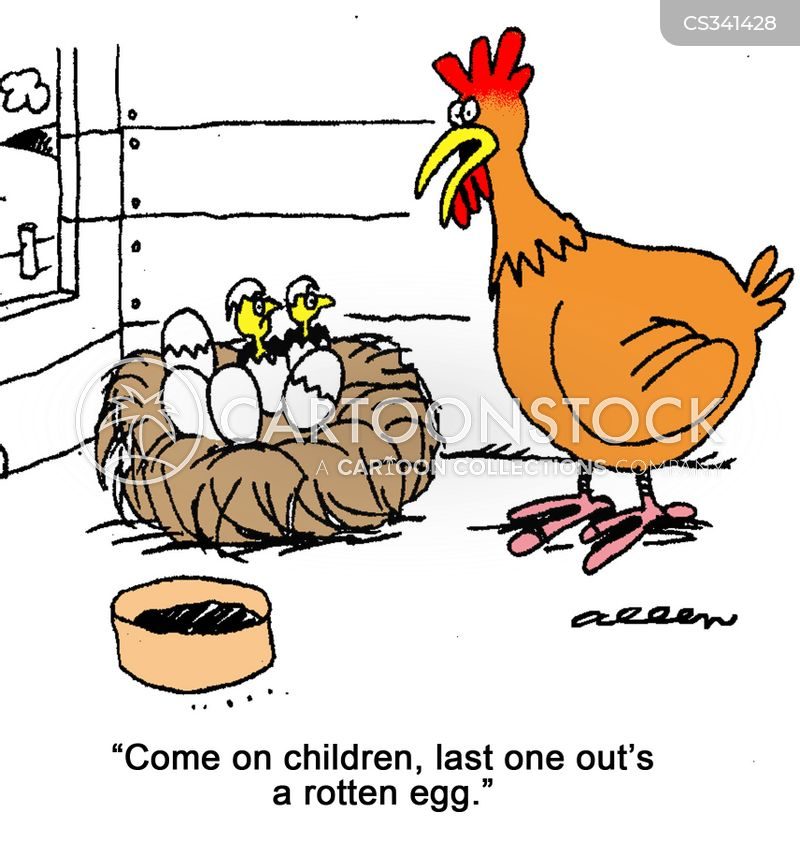 rotten eggs cartoon
