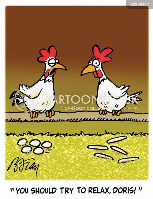 lay eggs cartoon