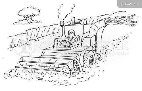 combine harvester cartoon