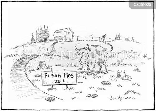 cowpie cartoon