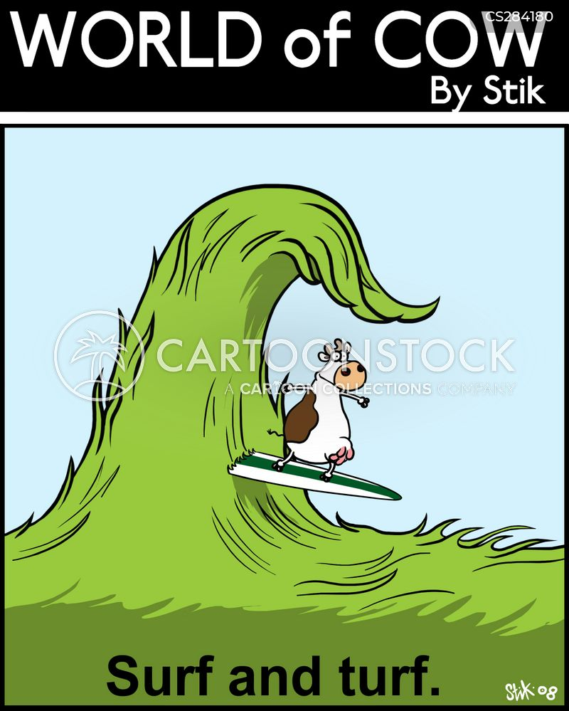 Surf And Turf Cartoons and Comics - funny pictures from CartoonStock