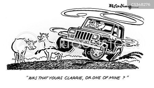 cow farmers cartoon