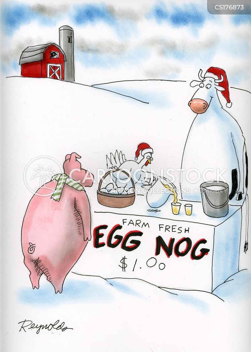 egg nog cartoon