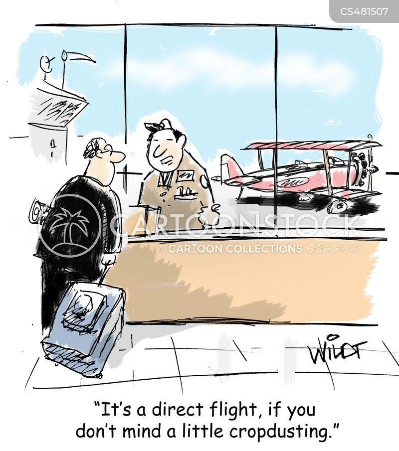 commercial airlines cartoon