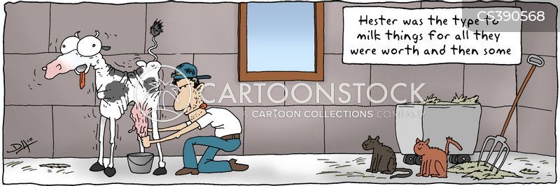milking time cartoon