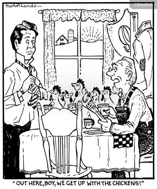 early risers cartoon