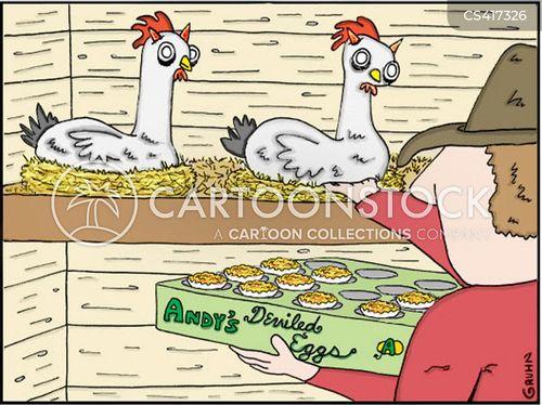 devilled egg cartoon