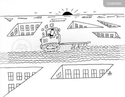 roof tops cartoon