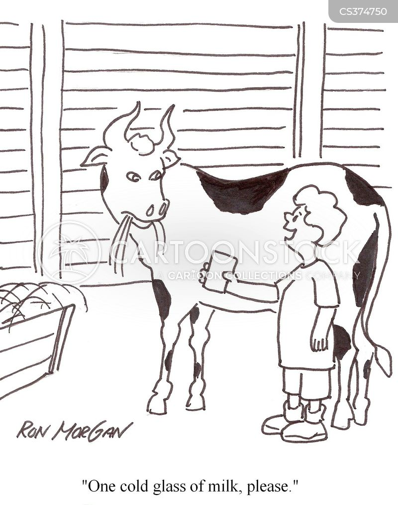 drinking milk cartoon