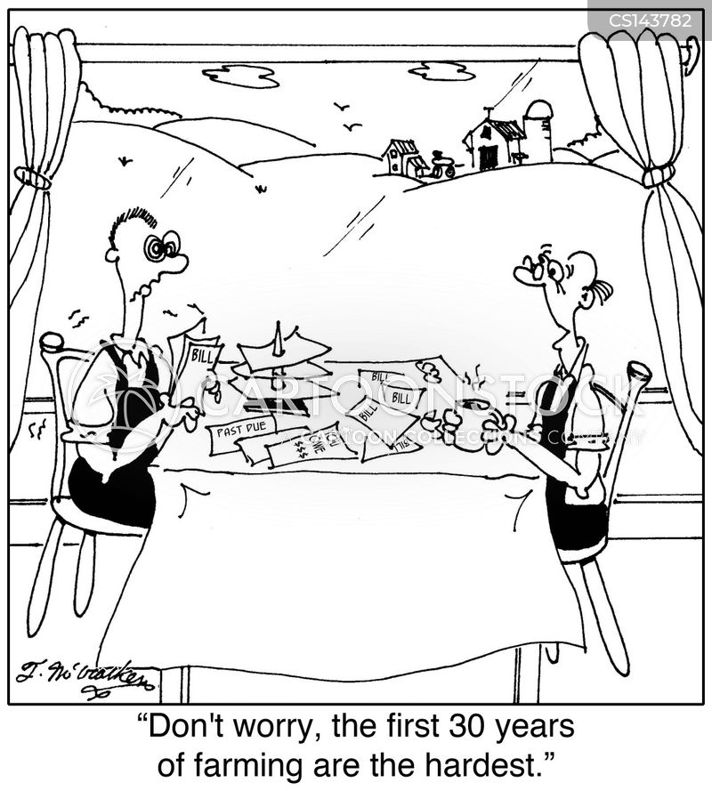 farm costs cartoon