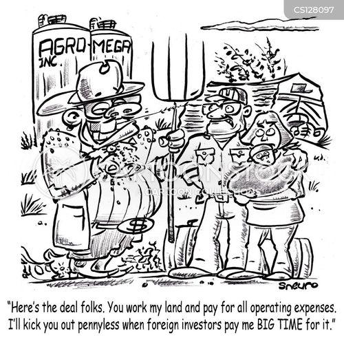 family farms cartoon