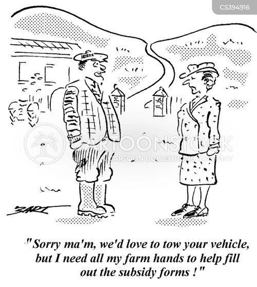 farm loan cartoon