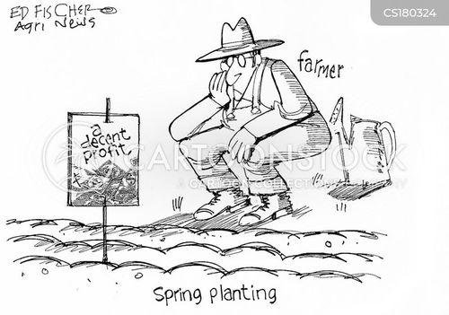 planting cartoon