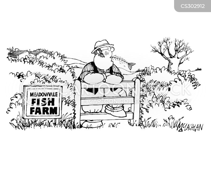 Fish Farming Cartoons and Comics - funny pictures from CartoonStock