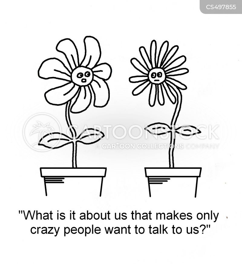 plant pots cartoon