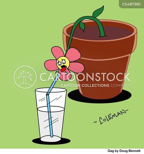 glass of water cartoon