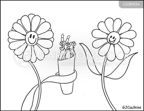 floral cartoon