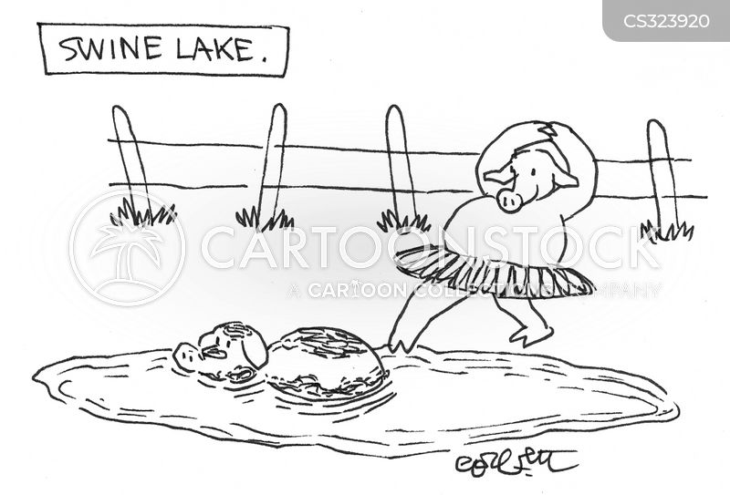swan lake cartoon