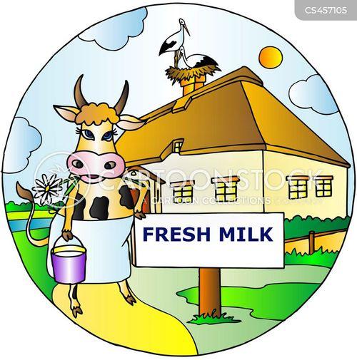 fresh milk cartoon