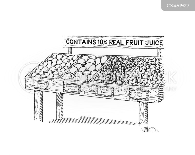 fruit juice cartoon