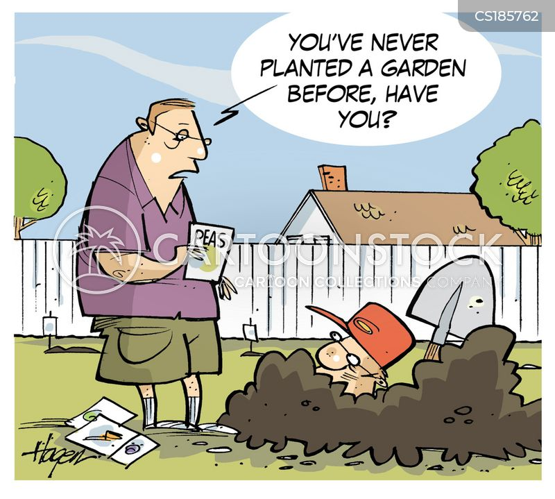 yard chores cartoon