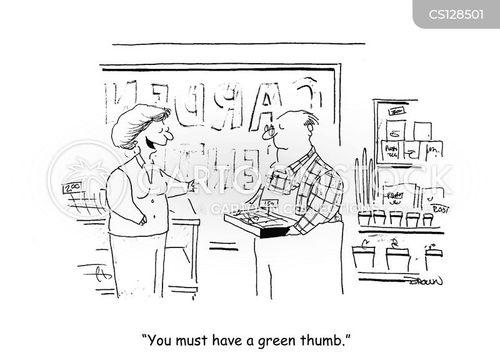 garden center cartoon