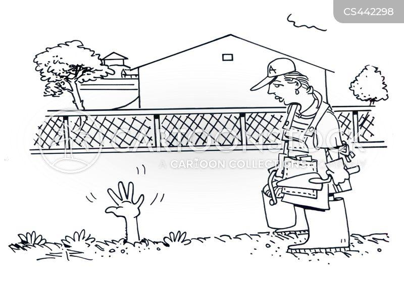 buried alive cartoon