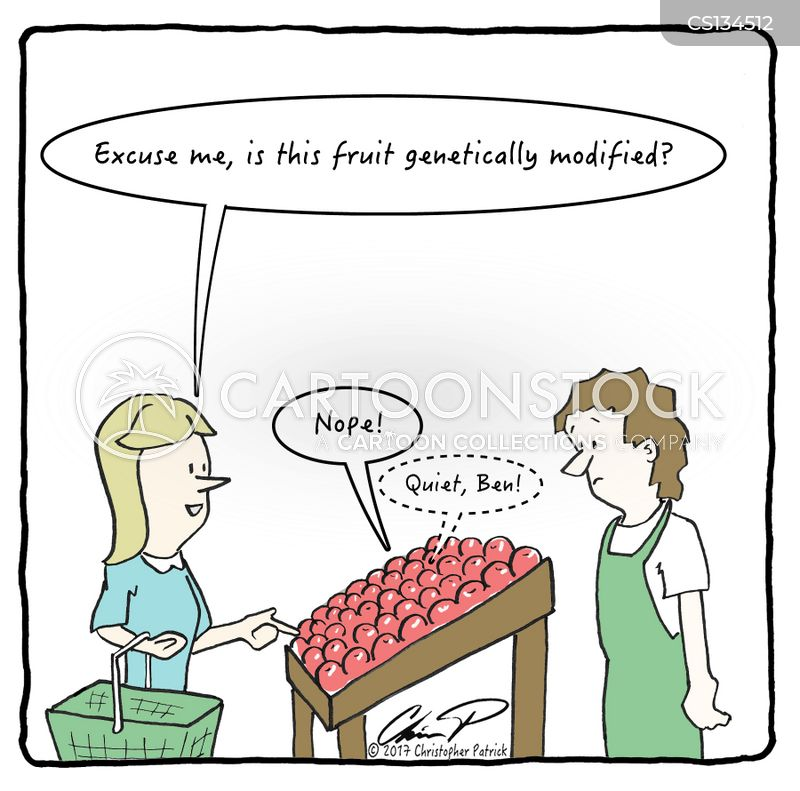 organic fruit cartoon