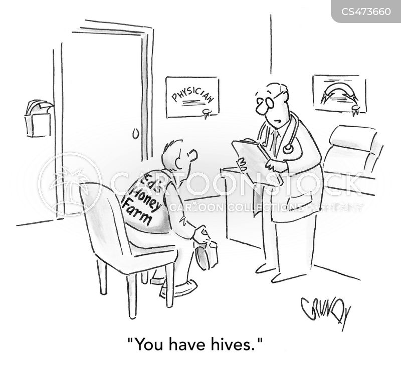 skin complaints cartoon