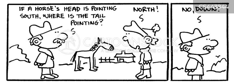 horse breeder cartoon