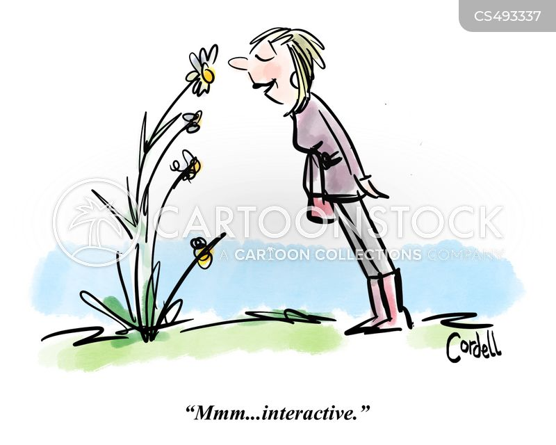 stop to smell the flowers cartoon
