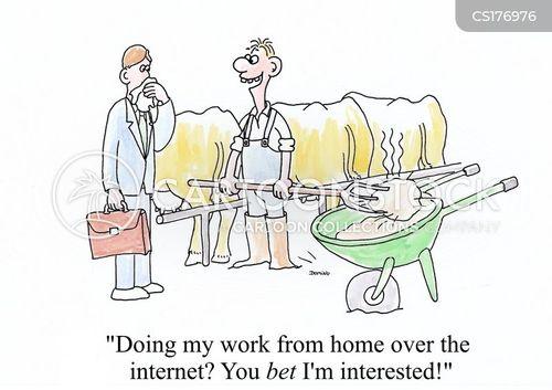 home office cartoon