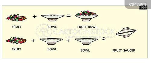 fruit bowls cartoon