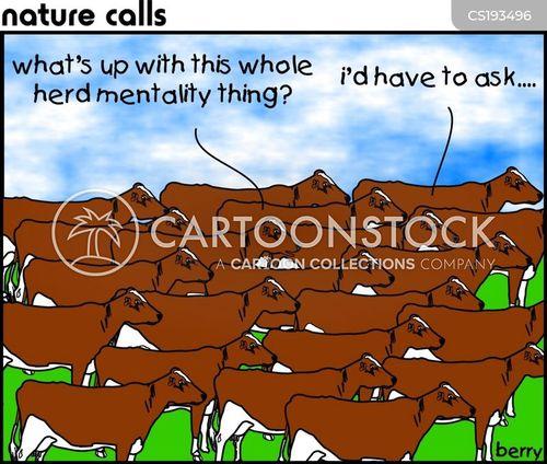 group mentality cartoon