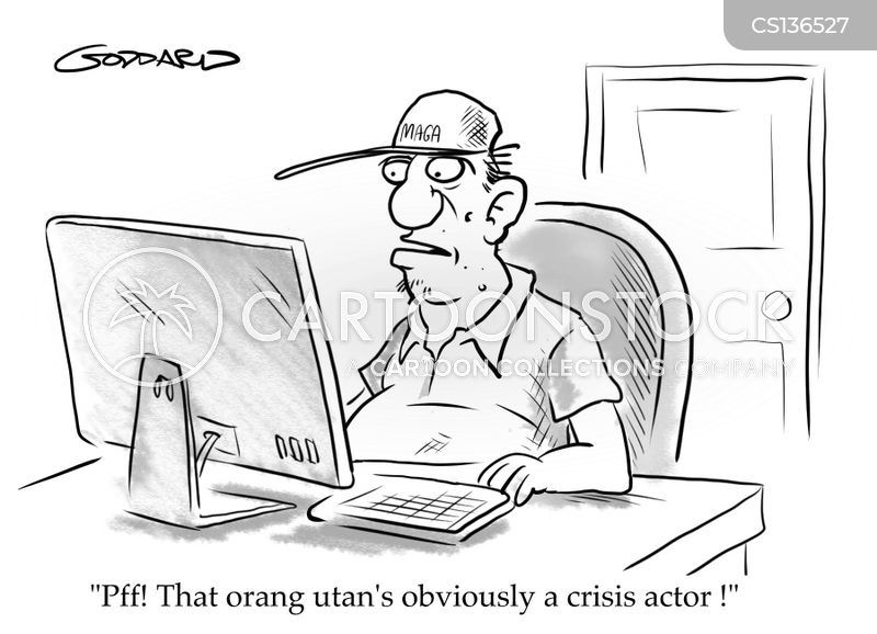 crisis actors cartoon