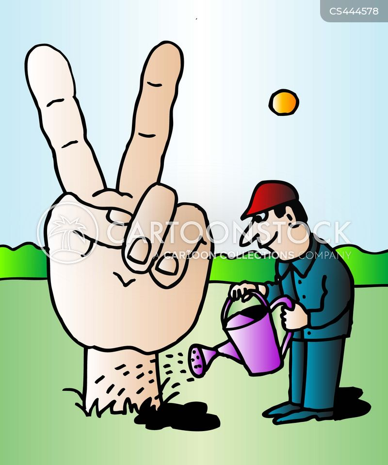 peace sign cartoon