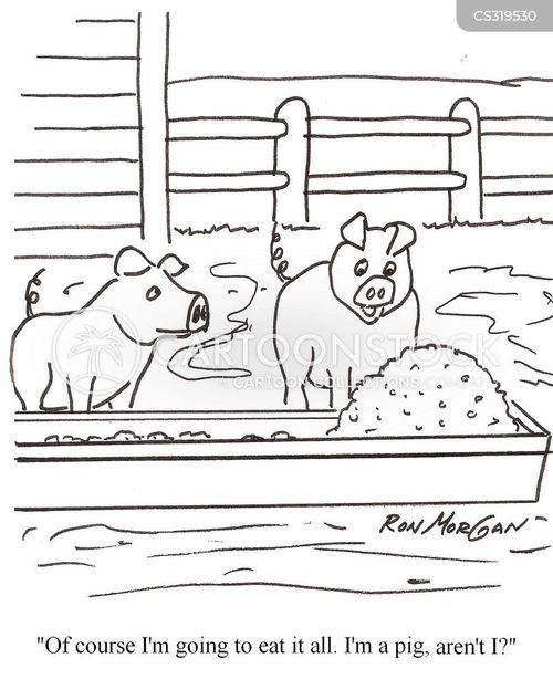 big meals cartoon