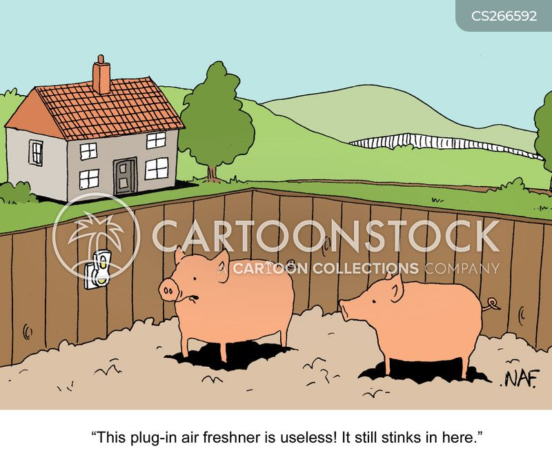 pig sty cartoon