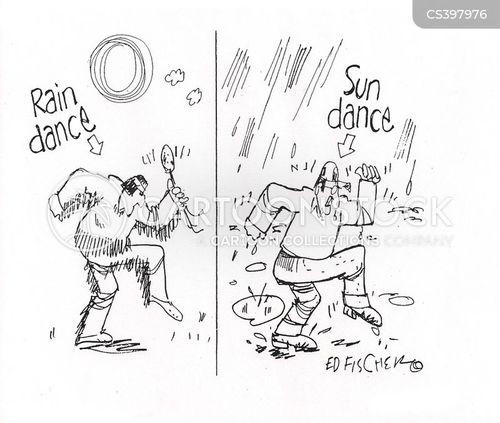 rain dance cartoon