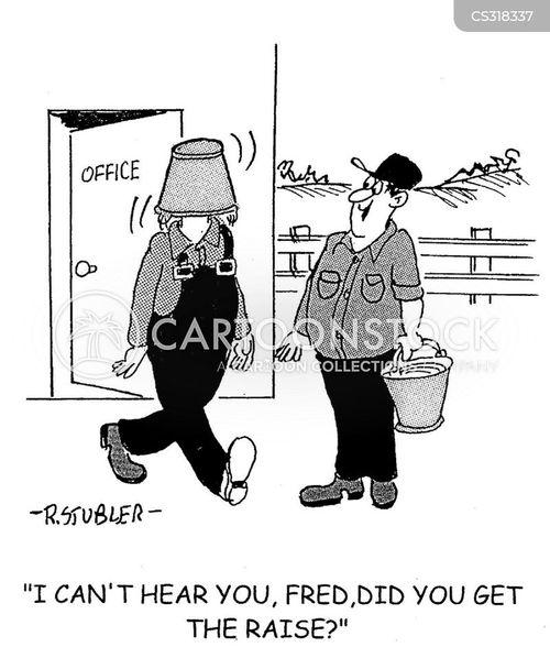 wage dispute cartoon