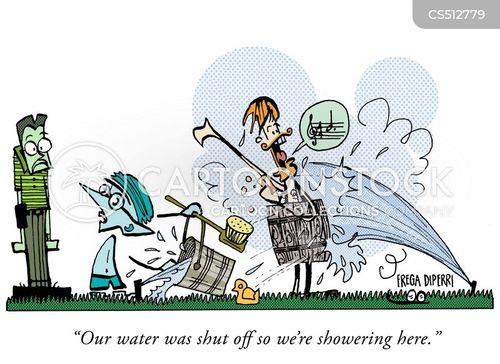 public bath cartoon