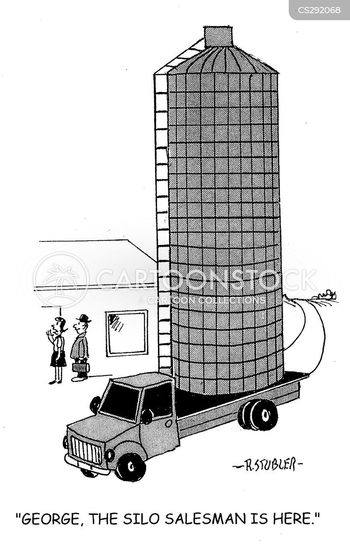 grain silo cartoon