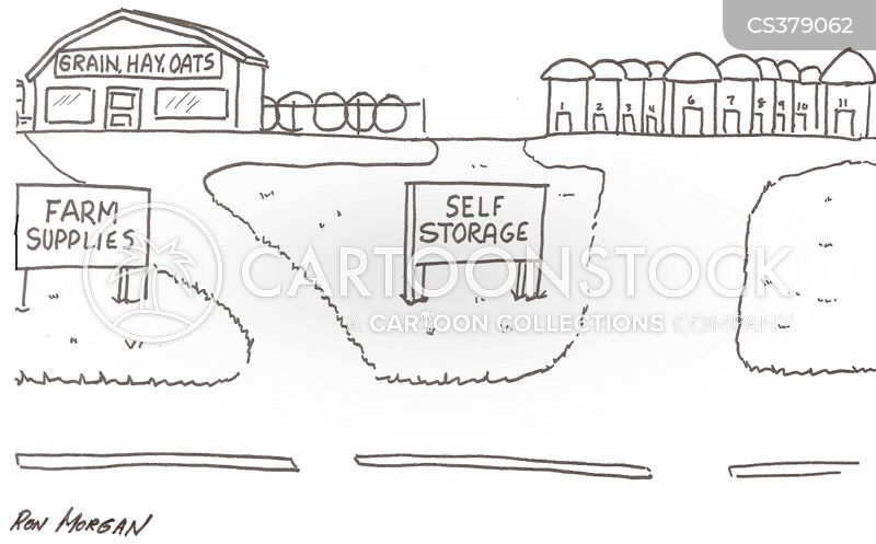 grain storage cartoon