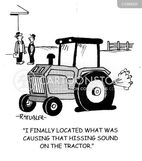 farming equipment cartoon